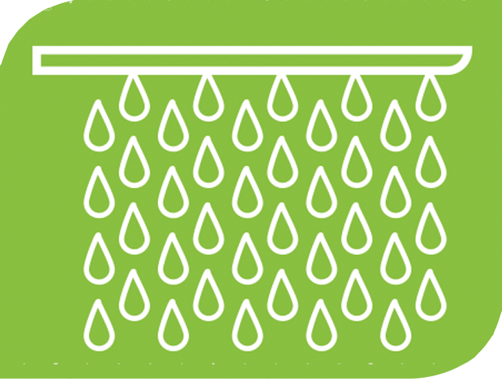 A graphic showing water dropping.