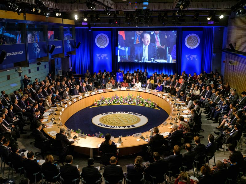 A photo of a large meeting.